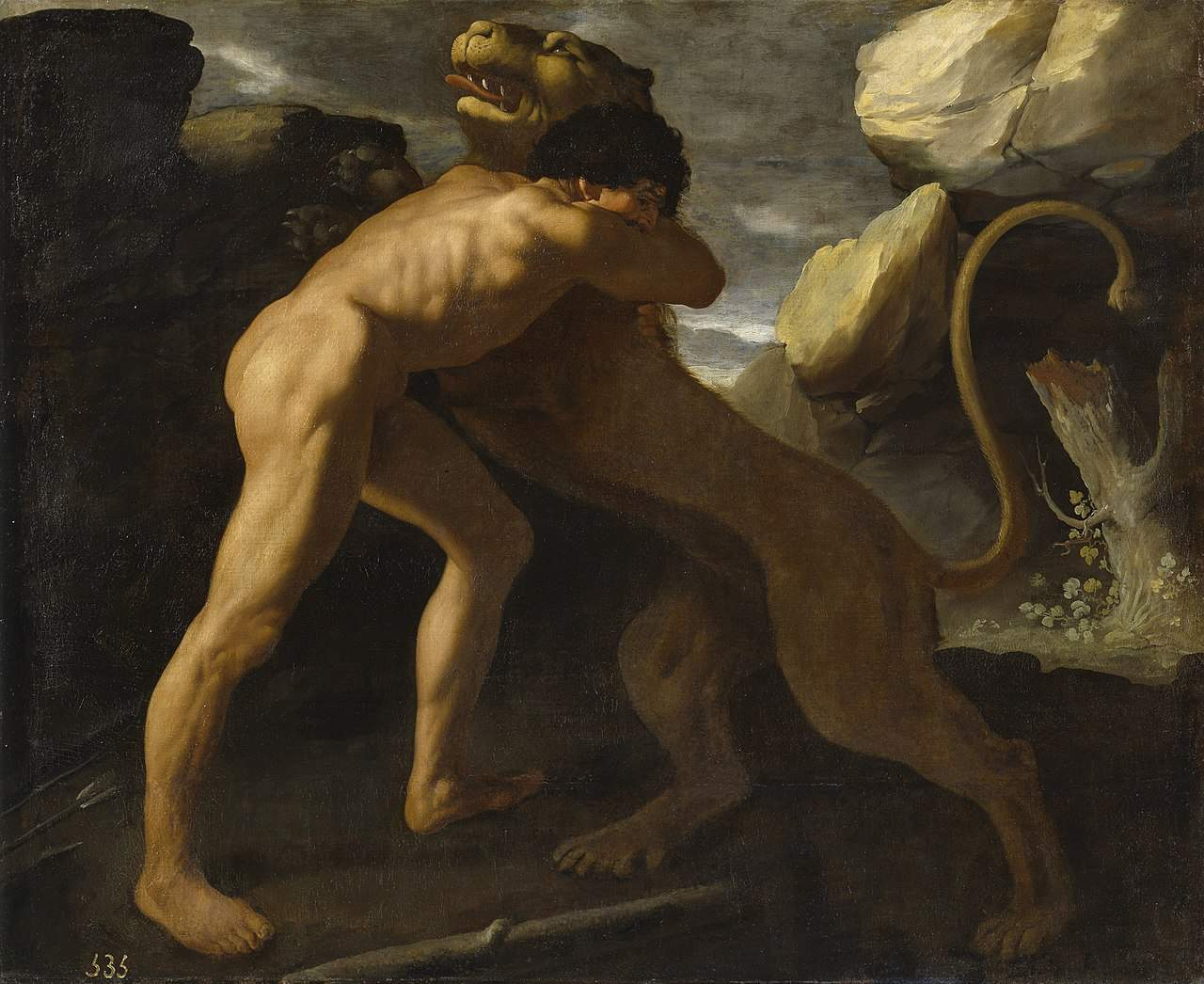 Herakles i lew