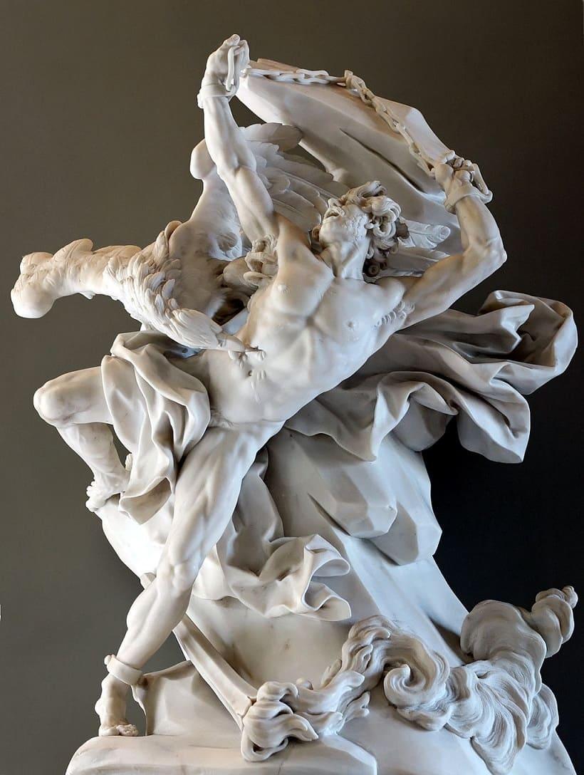 Rzeźba przedstawiająca Prometeusza