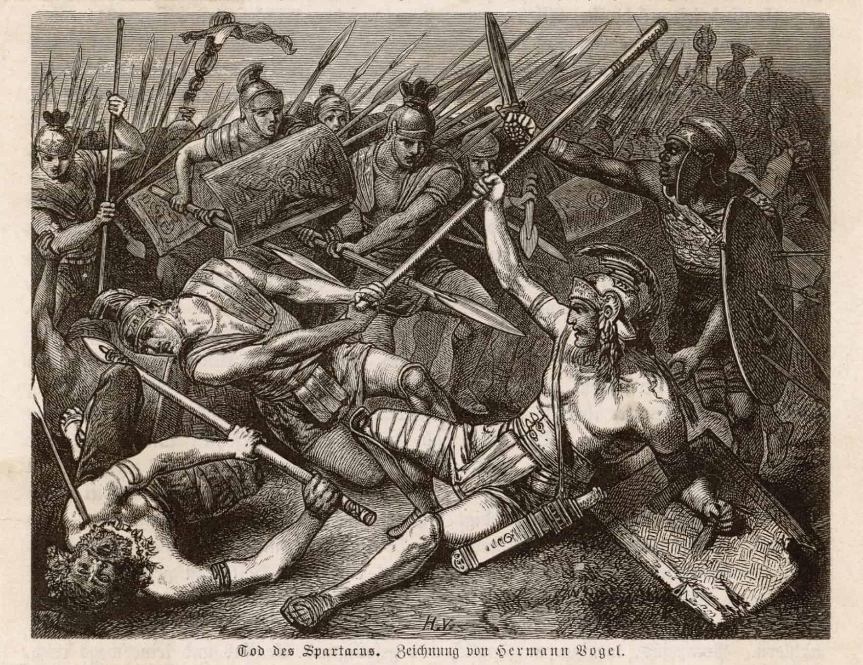 Spartakus śmierć